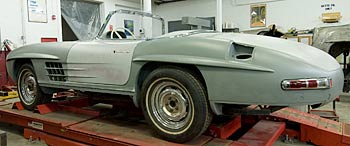 Mercedes-Benz 300 SL undergoing total restoration