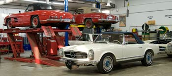 Service and Restoration Mercedes-Benz SL